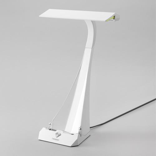 ツインバード工業 LEDライト Ucaled ブックスタンド付LEDデスクライト ホワイト LE-H842W