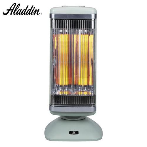 アラジン 電気ストーブ グラファイトヒーター 2灯管 (グラファイトeヒーター&シャットオフセンサー) グリーン CAH-2G10A(G)