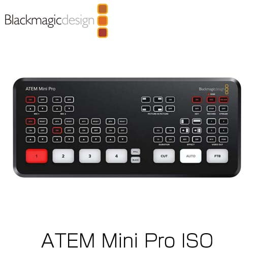 Blackmagic Design (ブラックマジック・デザイン) ライブプロダクションスイッチャー ATEM Mini Pro ISO SWATEMMINIBPRISO