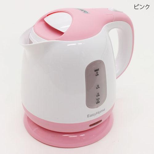ヒロ・コーポレーション 電気ケトル コンパクトケトル 1.0L ピンク KTK-300(P)