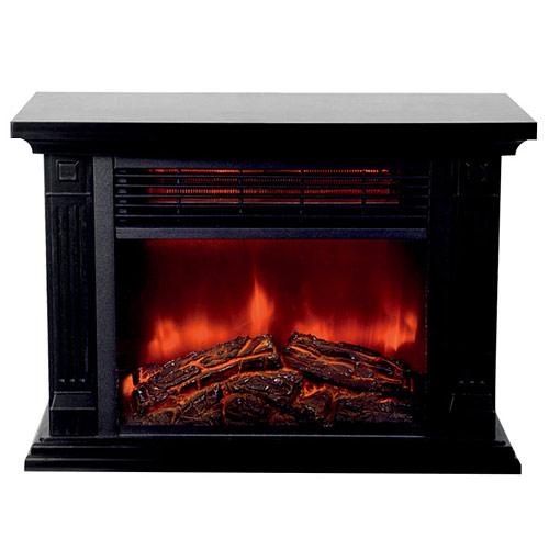 ヒロコーポレーション 暖炉型ファンヒーター HD-100BK ブラック