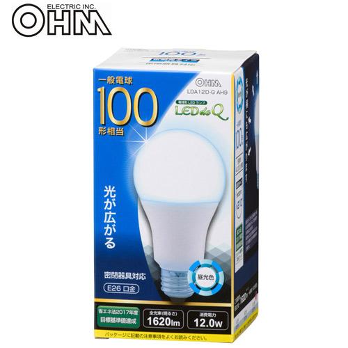 オーム電機 LED電球 E26 100形相当 昼光色 LDA12D-G AH9