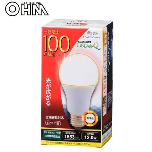 オーム電機 LED電球 E26 100形相当 電球色 LDA12L-G AH9