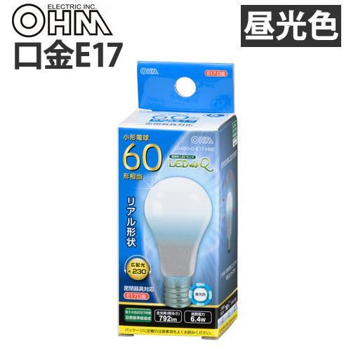 オーム電機 LED電球 ミニクリプトン形 E17 60W 昼光色 LDA6D-G-E17 IH92