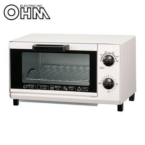 オーム電機 オーブントースター ホワイト COK-YH100D-W