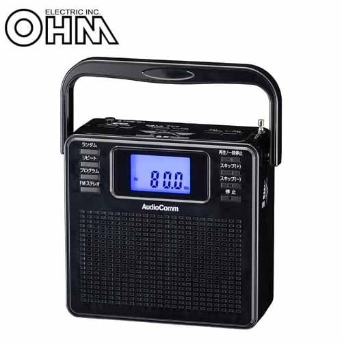 オーム電機 AudioComm ステレオCDラジオ ブラック RCR-500Z-K