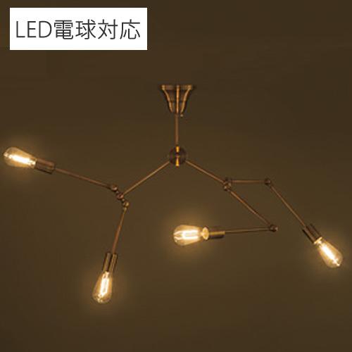 東谷 天井照明 シーリングライト 4灯 ゴールド LHT-727GD