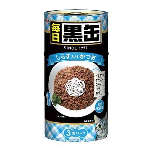 アイシア 毎日黒缶3P しらす 160g 3缶