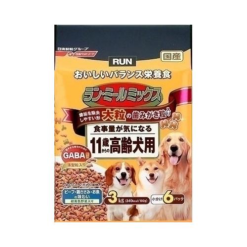 日清ペットフード ランミールミックス 大粒 11歳高齢犬用 3Kg