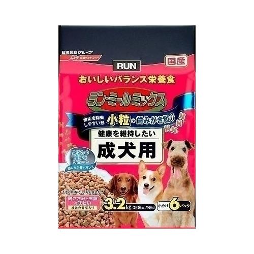 日清ペットフード ランミールミックス 小粒 成犬用 3.2Kg