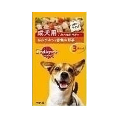 マース ぺディグリー 成犬用 チキン&野菜 70g 3袋 P116