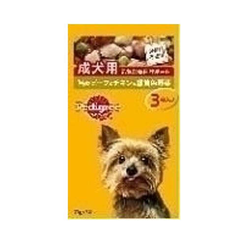 マース ぺディグリー 成犬用 ビーフチキン野菜 70g 3袋 P117
