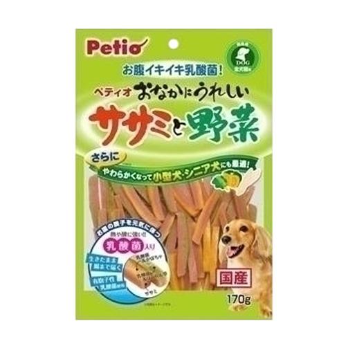 ペティオ 乳酸菌のちから おなかにうれしい ササミと野菜 170g