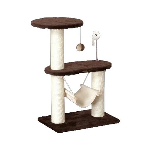 ドギーマンハヤシ 猫タワー スクラッチリビング コンパクトハンモック