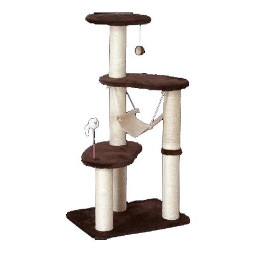 ドギーマンハヤシ 猫タワー スクラッチリビング ハンモックタワー