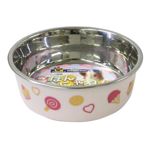 ドギーマンハヤシ ステンレス食器 ごはんにゃわん 犬用 MINI ピンク