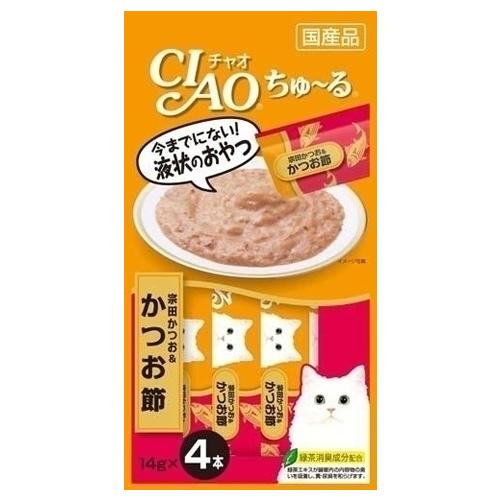 いなば CIAO ちゅ~る 宗田かつお&かつお節 14g 4本 4SC-75