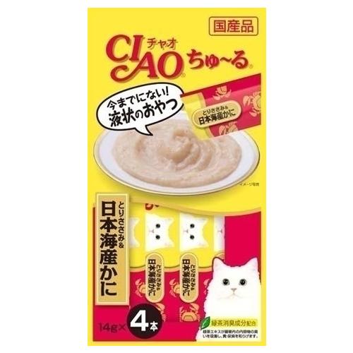 いなば CIAO ちゅ~る とりささみ・日本海産かに 14g 4本 4SC-76