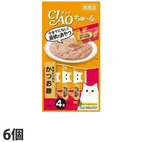 いなば CIAO ちゅ~る 宗田かつお&かつお節 14g 4本 6個 4SC-75