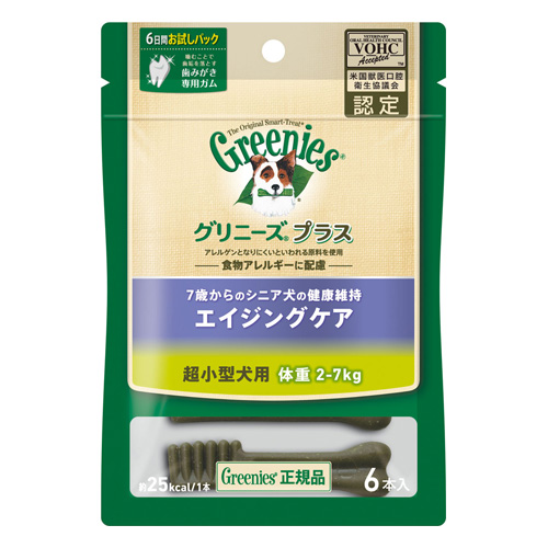 マース グリニーズプラス エイジングケア 超小型犬用(2-7kg) 6本 CGS009