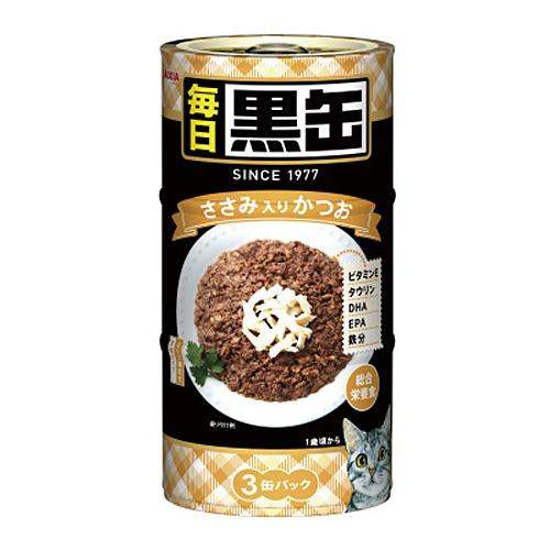 アイシア 毎日黒缶3P ささみ 160g 3缶