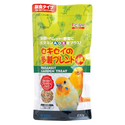 スドー 小動物(フード・用品) セキセイの多穀ブレンド+野菜 230g