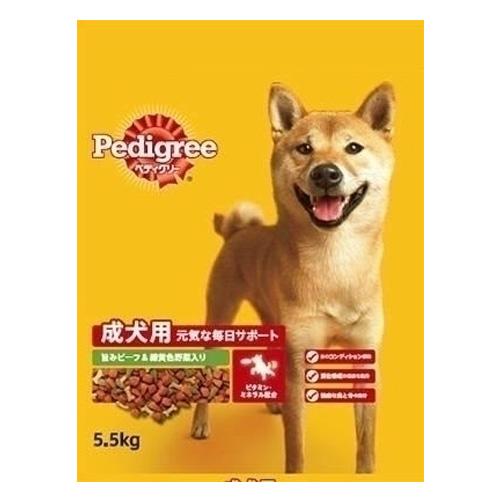 マース ペディグリードライ 成犬用 旨みビーフ&緑黄色野菜 5.5kg PD3