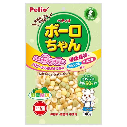 ペティオ 体にうれしい ボーロちゃん 野菜Mix 140g