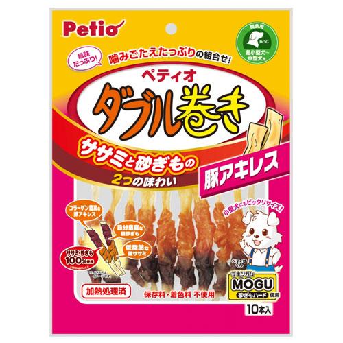 ペティオ ダブル巻き 豚アキレス 10本