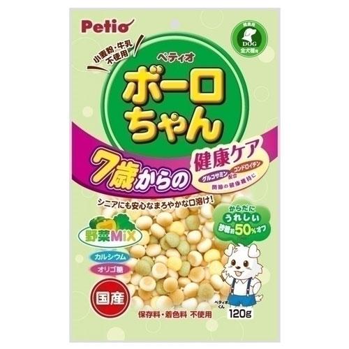 ペティオ 体にうれしい ボーロちゃん 7歳からの健康ケア 野菜Mix 120g