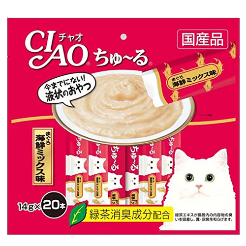 いなば CIAO ちゅ~る まぐろ 海鮮ミックス味 14g 20本 SC-127