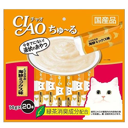 いなば CIAO ちゅ~る とりささみ 海鮮ミックス味 14g 20本 SC-128