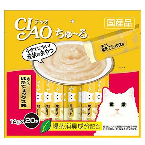 いなば CIAO ちゅ~る まぐろ ほたてミックス味 14g 20本 SC-129