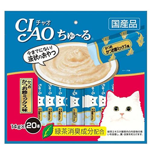 いなば CIAO ちゅ~る かつお かつお節ミックス味 14g 20本 SC-130