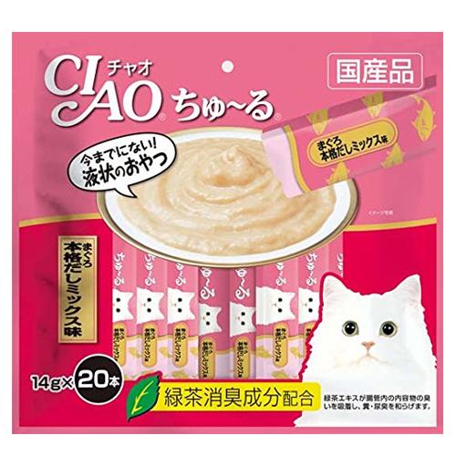 いなば CIAO ちゅ~る まぐろ 本格だしミックス味 14g 20本 SC-191