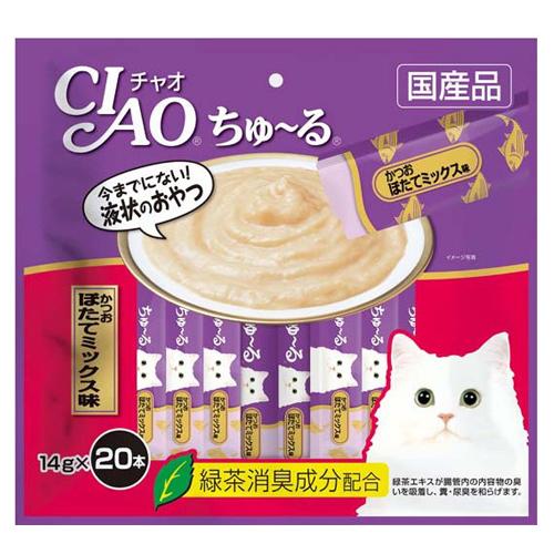 いなば CIAO ちゅ~る かつお ほたてミックス味 14g 20本 SC-192