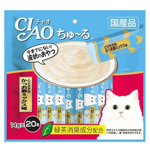 いなば CIAO ちゅ~る とりささみ かつお節ミックス味 14g 20本 SC-193