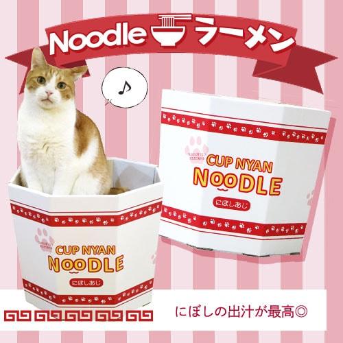 猫カップ ダンボール ラーメン