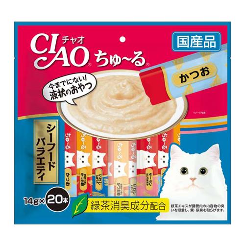 いなば CIAO ちゅ~る シーフードバラエティ 14g 20本 SC-196