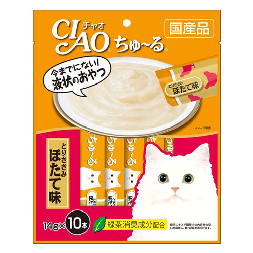 【売切れ御免】いなば CIAO ちゅ~る とりささみ ほたて味 14g 10本 SC-126
