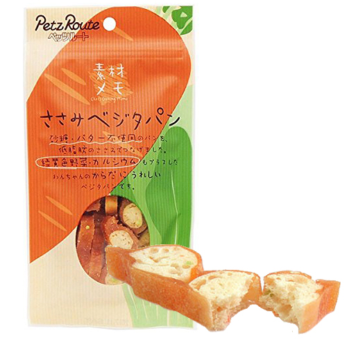 ペッツルート 犬用おやつ 素材メモ ささみベジタパン 40g