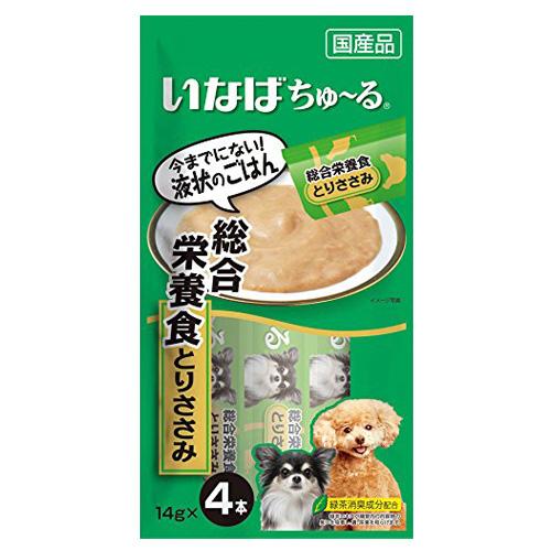 いなば 犬用ちゅ~る 総合栄養食とりささみ 14g×4本 D-105