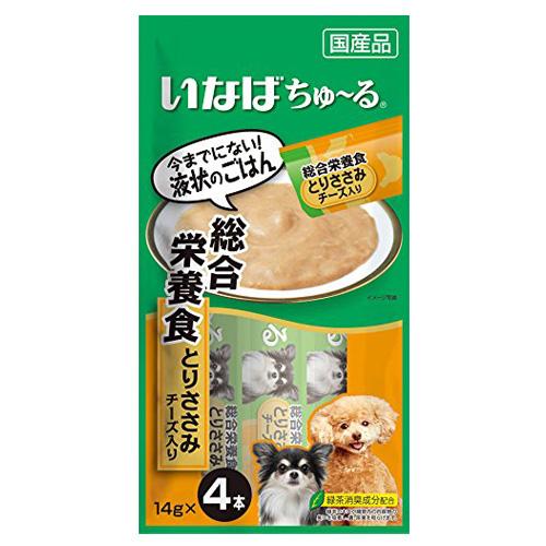 いなば 犬用ちゅ~る 総合栄養食とりささみチーズ入り 14g×4本 D-107