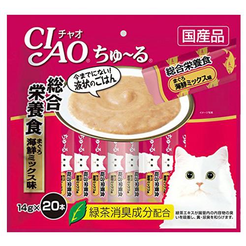 いなば CIAO ちゅ~る 総合栄養食 まぐろ 海鮮ミックス味 14g×20本 SC-199