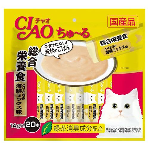 いなば CIAO ちゅ~る 総合栄養食 とりささみ 海鮮ミックス味 14g×20本 SC-200