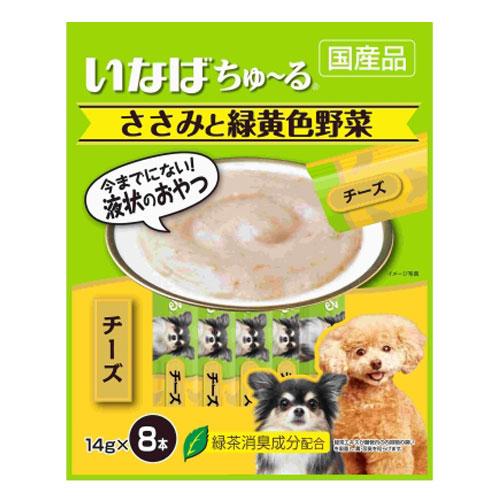 いなば 犬用ちゅ~る ささみと緑黄色野菜 チーズ入り 14g×8本 TDS-12