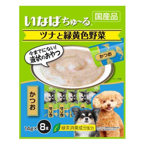 いなば 犬用ちゅ~る ツナと緑黄色野菜 かつお入り 14g×8本 TDS-14