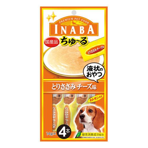 いなば 犬用ちゅ~る とりささみ チーズ味 14g×4本 D-104