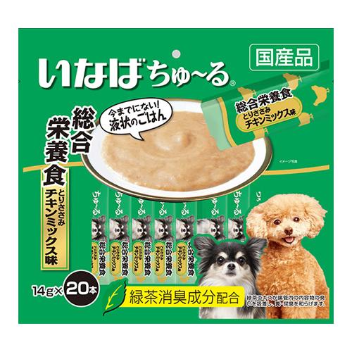 いなば 犬用ちゅ~る 総合栄養食 とりささみ チキンミックス味 14g×20本 DS-121