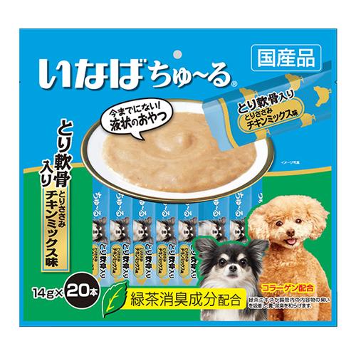 いなば 犬用ちゅ~る とり軟骨入り とりささみ チキンミックス味 14g×20本 DS-124